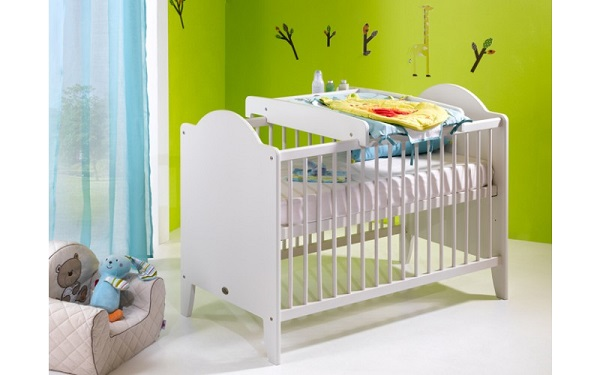 Lit bebe avec plan a langer for Combine lit table a langer