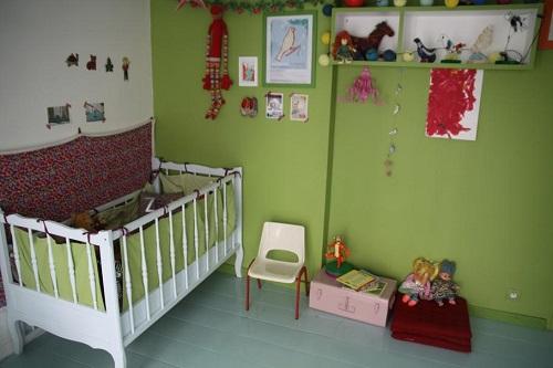 couleur de la peinture d'une chambre enfant
