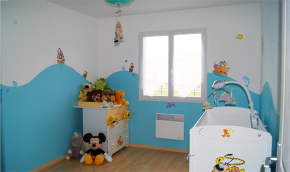 thème de la peinture d'une chambre enfant