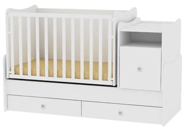 lit bébé blanc evolutif combine trend plus blanc lorelli
